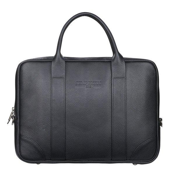 bb729dfc3188b Skórzana torba biznesowa na laptopa i dokumenty - duża Czarny