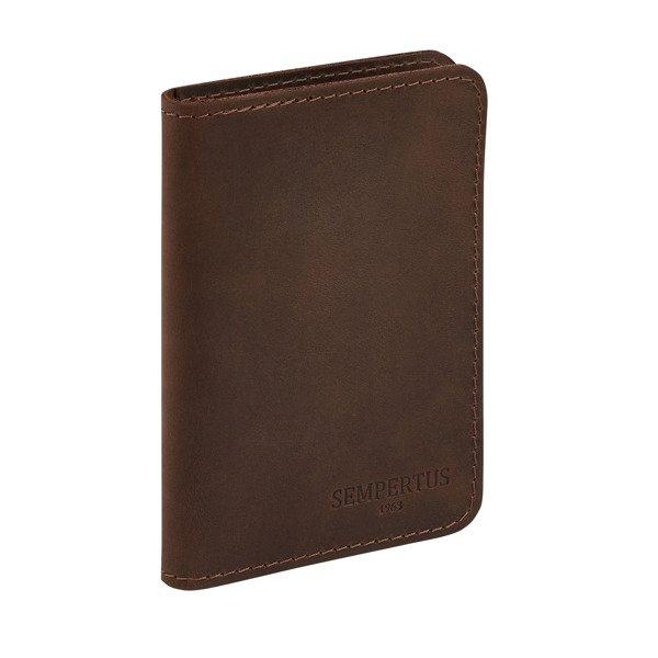 4398b2ac41868 Skórzany cienki portfel męski bez podszewki PM-09 CH Brązowy ...
