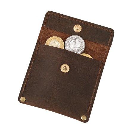 Skórzana bilonówka, portfel na drobne B-01/CH-2