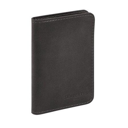 Skórzany Cienki Portfel Męski Slim Wallet Sempertus PM-09/CH