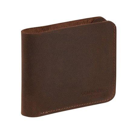 Skórzany Cienki Portfel Męski Slim Wallet Sempertus PM-13/CH