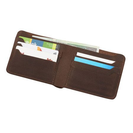Skórzany cienki portfel męski bez podszewki PM-13/CH
