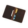 Skórzany Cienki Portfel Męski Slim Wallet Sempertus PM-08 Brązowy
